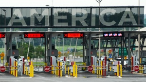 The U.S. border crossing is seen Monday, August 9, 2021 in Lacolle, Que., south of Montreal. THE CANADIAN PRESS/Ryan Remiorz
