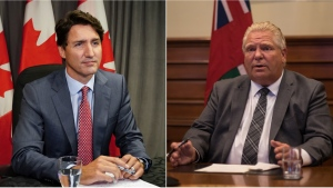 """Prime Minister Justin Trudeau calls on Premier Doug Ford to """"step up"""" and introduce a vaccine certificate program on August 27, 2021."""