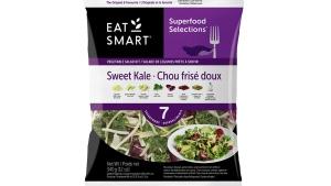 An Eat Smart Kale chopped salad kit is shown in a CFIA handout image.
