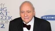 """Michael Constantine attends the premiere of """"My Big Fat Greek Wedding 2""""in New York on March 15, 2016. Constantine, an Emmy Award-winning character actor who reached worldwide fame playing the Windex bottle-toting father of the bride in the 2002 film """"My Big Fat Greek Wedding,"""" died Aug. 31 in his home at Reading, Pennsylvania, of natural causes. He was 94. (Photo by Andy Kropa/Invision/AP, File)"""