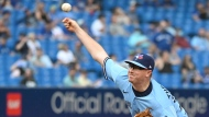 Toronto Blue Jays' Trent Thornton pitches in the fifth inning of an American League baseball game against the Chicago White Sox, in Toronto on Thursday, Aug. 26, 2021. THE CANADIAN PRESS/Jon Blacker