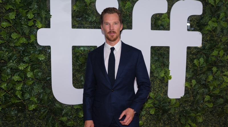 """Actor Benedict Cumberbatch poses for a photograph on the red carpet for the film """"The Electrical Life of Louis Wain"""" during the Toronto International Film Festival in Toronto on, Saturday, September 11, 2021.THE CANADIAN PRESS/Tijana Martin"""