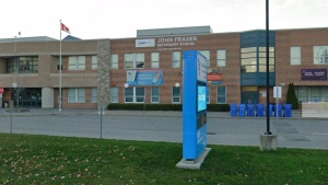 John Fraser Secondary School in Mississauga is shown in a Google Streetview Image from Nov. 2020.
