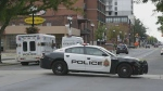 Hamilton police are investigating a shooting outside a Tim Hortons that left one man dead.