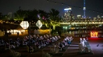 Movie goers attend an open air screening at the Toronto International Film Festival in Toronto on Tuesday, September 14, 2021. THE CANADIAN PRESS/Chris Young