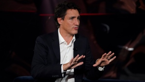 Liberal Leader Justin Trudeau takes part in the TV show 'La Semaine des 4 Julie' in Varennes, Que., on Wednesday, Sept. 15, 2021. THE CANADIAN PRESS/Sean Kilpatrick