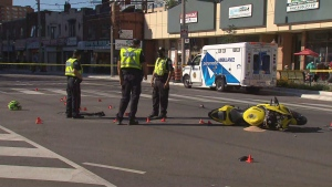 Police are investigating a collision between a motorcycle and a van that left a 50-year-old man dead.