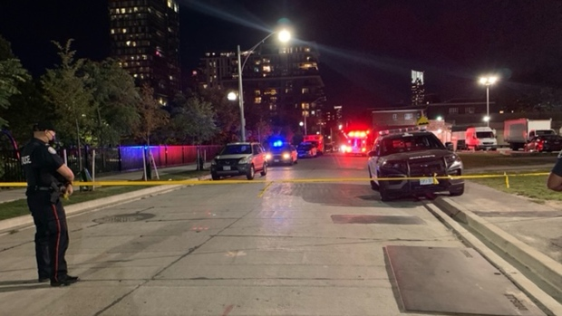 A shooting in Regent Park left one person dead and two others injured. (CP24/Marc Liverman)