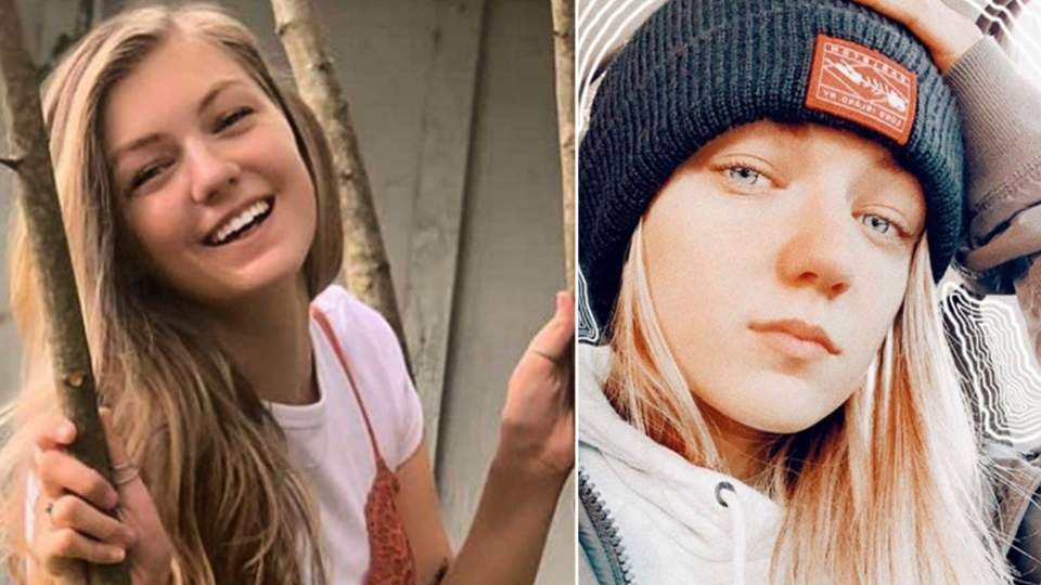 """This combo of photos provided by FBI Denver via @FBIDenver shows missing person Gabrielle """"Gabby"""" Petito. Petito, 22, vanished while on a cross-country trip in a converted camper van with her boyfriend. Authorities say a body discovered Sunday, Sept. 19, 2021, in Wyoming, is believed to be Petito. (Courtesy of FBI Denver via AP)"""