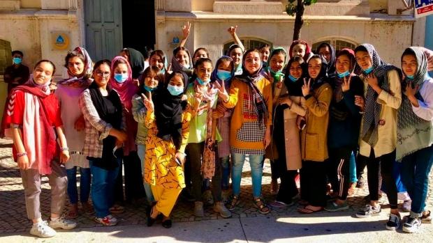 Afghanistan girls soccer team