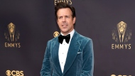 Jason Sudeikis arrives at the 73rd Primetime Emmy Awards on Sunday, Sept. 19, 2021, at L.A. Live in Los Angeles. (AP Photo/Chris Pizzello)