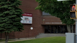 Ecole Secondaire Catholique Algonquin in North Bay is pictured. (Streetview /Google)