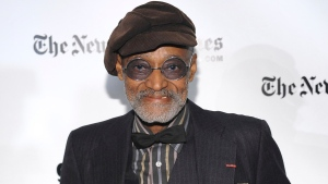 """Gotham Tribute Honors recipient, filmmaker Melvin Van Peebles attends the 18th Annual Gotham Independent Film Awards at Cipriani Wall Street on Tuesday, Dec. 2, 2008, in New York. Van Peebles, a Broadway playwright, musician and movie director whose work ushered in the """"blaxploitation"""" films of the 1970s, has died at age 89. His family said in a statement that Van Peebles died Tuesday night, Sept. 21, 2021, at his home. (AP Photo/Evan Agostini, File)"""
