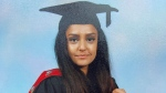 """This is an undated photo provided by the Metropolitan Police on Thursday, Sept. 23, 2021 of Sabina Nessa.  British police investigating the killing of a 28-year-old woman in London say they are probing whether she was attacked by a stranger. It's a case that sparked new concerns for the safety of women walking the capital's streets. Police called for information over the murder of a primary school teacher Sabina Nessa on Sept.17 in southeast London. Detectives believe she was attacked during what would have been a five-minute walk through a local park on her way to meet a friend at the pub. The case came just a few months after the abduction, rape and murder of 33-year-old Sarah Everard in south London by a serving police officer. London Mayor Sadiq Khan described the violence against women as a national """"epidemic.""""     (Metropolitan Police via AP)"""