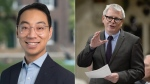 Adam Vaughan and Kevin Vuong are seen in this composite image. (Facebook/@Kevin Vuong/The Canadian Press)