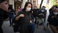 Meng Wanzhou, chief financial officer of Huawei, leaves her lawyer's office after attending a U.S. court hearing remotely, in Vancouver, B.C., Friday, Sept. 24, 2021. THE CANADIAN PRESS/Darryl Dyck