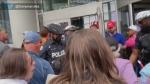 anti-vax, protest, Eaton Centre,