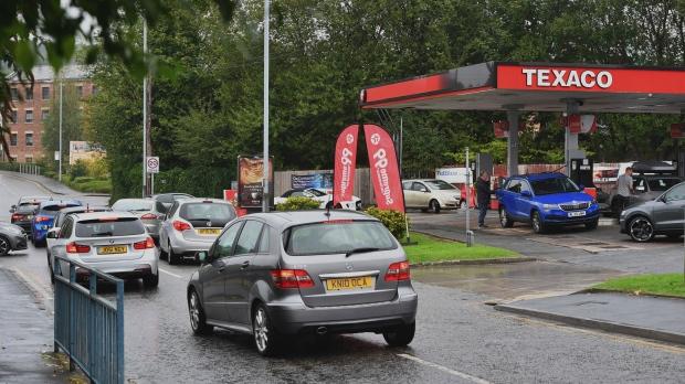 UK gas station