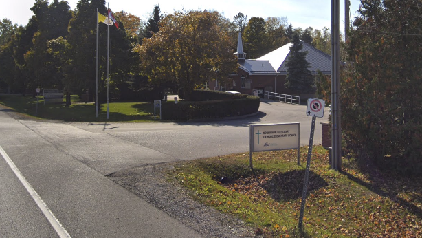 Monsignor Leo Cleary Catholic Elementary School is pictured above in this Google Streetview image. (Google Streetview)