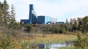 The Totten Mine near Sudbury, Ont., is shown on Monday, Sept. 27, 2021. A mining company says 39 workers who've been trapped underground near Sudbury, Ont., since yesterday are now slowly on their way out. Vale says no one has been injured at the Totten Mine and all the trapped workers are expected to reach the surface by tonight. THE CANADIAN PRESS/Gino Donato