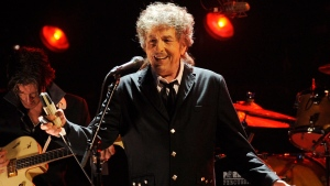 FILE - Musician Bob Dylan performs in Los Angeles on Jan. 12, 2012. (AP Photo/Chris Pizzello, File)