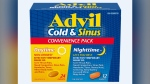 Health Canada is recalling two lots of the Advil Cold & Sinus Day/Night Convenience Pack. (Health Canada)