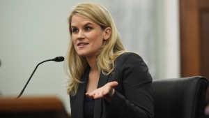 Former Facebook employee and whistleblower Frances Haugen testifies during a Senate Committee on Commerce, Science, and Transportation hearing on Capitol Hill on Tuesday, Oct. 5, 2021, in Washington. (Matt McClain/The Washington Post via AP, Pool)