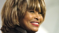 Tina Turner smiles during an appearance in Toronto Monday January 24, 2005. (CP PHOTO/Aaron Harris)