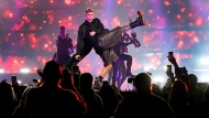 Singer Ricky Martin performs live in front of fans during a concert in Toronto on Thursday, October 7, 2021. THE CANADIAN PRESS/Nathan Denette