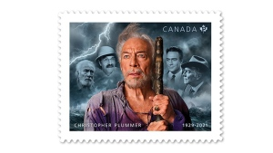 Canada Post has revealed a new commemorative stamp, shown in a handout, honouring late acting legend Christopher Plummer. THE CANADIAN PRESS/HO-Canada Post
