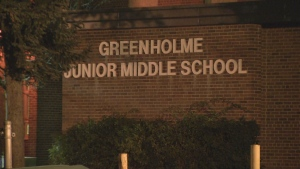 Students at Greenholme Junior Middle School near Kipling Avenue and Albion Road are switching to remote learning as following the discovery of new cases.