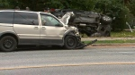 One man is dead after a collision in Etobicoke.
