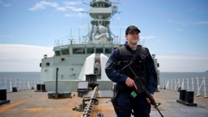 The deck of the frigate HMCS Winnipeg is seen on Tuesday, June 10, 2014. THE CANADIAN PRESS/Jimmy Jeong