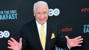 """In this May 17, 2017 file photo, Mel Brooks attends the LA Premiere of """"If You're Not In The Obit, Eat Breakfast"""" in Beverly Hills, Calif.  (Photo by Richard Shotwell/Invision/AP, File)"""