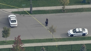 A young girl is in hospital after being hit by a vehicle in Brampton Wednesday morning.