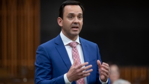 Conservative MP Blake Richards rises during Question Period in the House of Commons Thursday May 27, 2021 in Ottawa. THE CANADIAN PRESS/Adrian Wyld