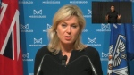Mississauga Mayor Bonnie Crombie speaks during a COVID-19 update Thursday, October 21, 2021.