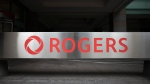 The Rogers Logo is photographed in Toronto office on Monday, September 30, 2019. THE CANADIAN PRESS/ Tijana Martin