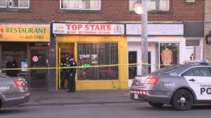 Police are investigating a shooting near a restaurant in the city's Fairbank neighbourhood.