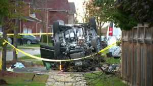 Police are investigating a crash in Mississauga that left one man critically injured.