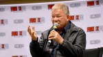 Actor William Shatner addresses a crowd at Fan Expo Canada in downtown Toronto Friday October 22, 2021. (Joshua Freeman /CP24