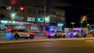 One male was seriously injured after a stabbing near Bathurst Street and Wilson Avenue early Thursday morning. (Mike Nguyen/ CP24)