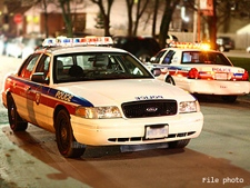 Toronto Police cruisers are seen in this file photo. (CP24/Maurice Cacho)