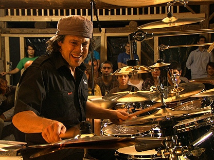 """Mike Mangini, who holds five World Fastest Drummer records, shows off his skills in John Walker�s latest documentary """"A Drummer�s Dream,"""" which is screening at the Hot Docs festival. (THE CANADIAN PRESS/HO, John Walker)"""