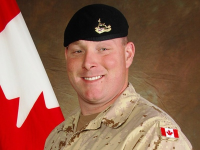 Canadian Trooper Larry Rudd is shown in a military handout photo. Trooper Rudd, 26, was killed by an improvised explosive device at 12:30 p.m. local time Monday near the village of Salavat, about 20 kilometres southwest of Kandahar city.