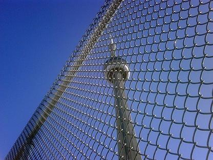 Crews have been working to build fences around the G20 summit site. (CP24/Mathew Reid)