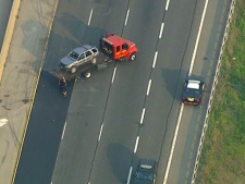 One person was seriously injured in a crash on the QEW in Grimsby on Tuesday, May 29, 2012.
