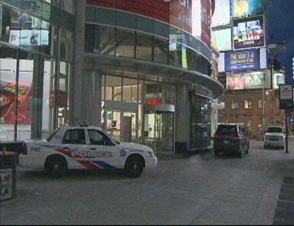 The scene outside the Eaton Centre early Sunday, June 3, 2012.