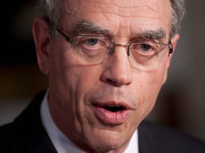 Minister of Natural Resources Joe Oliver speaks to reporters in Ottawa on Wednesday, May 30, 2012. (THE CANADIAN PRESS/Adrian Wyld)