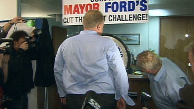 Rob Ford weight loss challenge